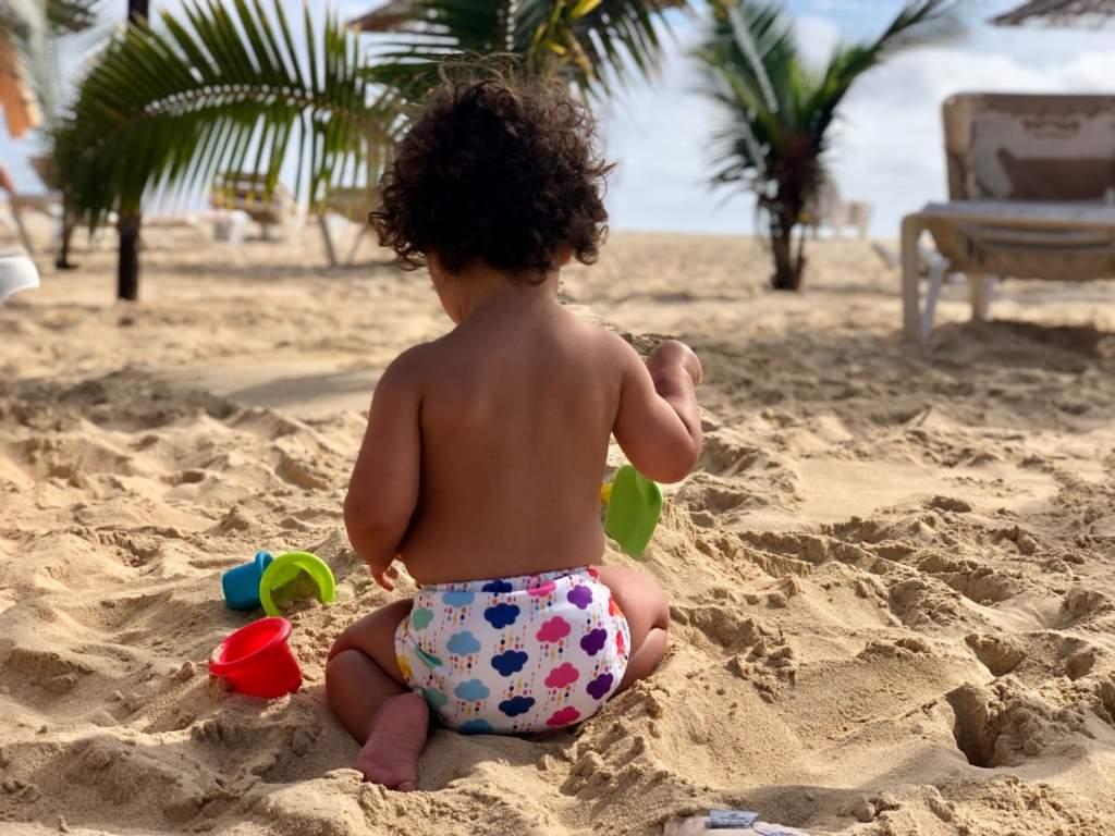 wasbare luiers vakantie