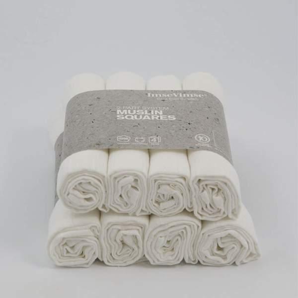 ImseVimse hydrofiele doeken – 4 stuks - hydrofiele doeken wasbare luiers luier
